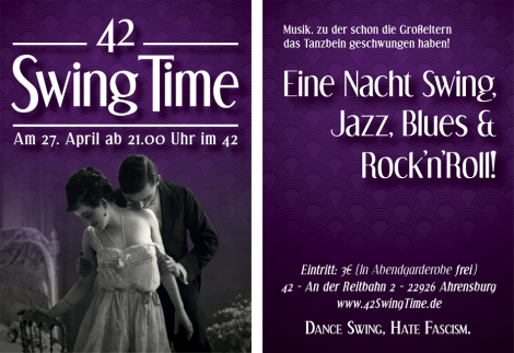 "Fertige Version des ""42 Swing Time""-Flyers"
