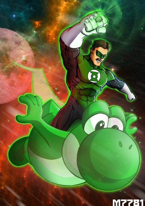 Green Lantern & Yoshi