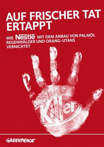 Der Aufmacher der Greenpeace-Broschüre zur Kampagne gegen Nestlé