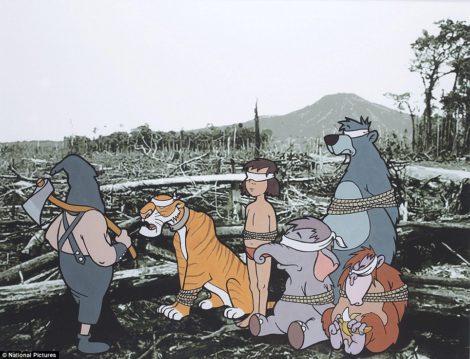 """""""Dschungelbuch-Hinrichtung"""" zum Thema Abholzung"""