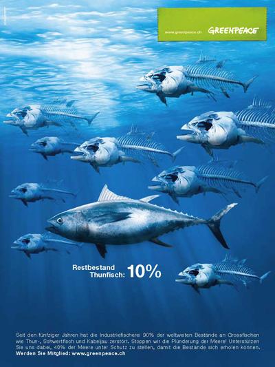 Werbeplakat zum Thema Bedrohung der Meeresbewohner (3)