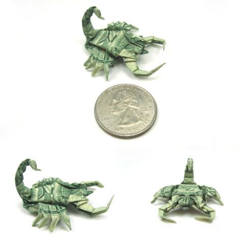 """Skorpion aus einer """"1 Dollar""""-Note"""