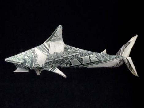 """Hai aus einer """"1 Dollar""""-Note"""