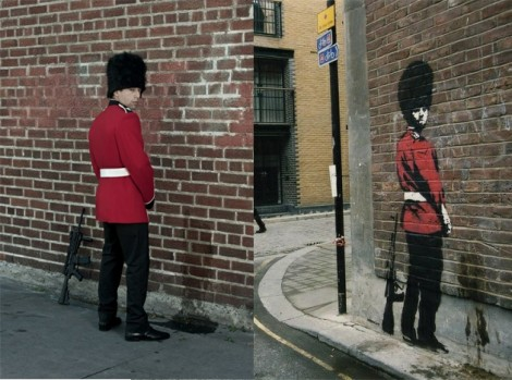 Banksy Guard Peeing