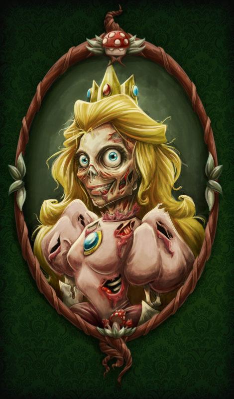Prinzessin Peach als Zombie