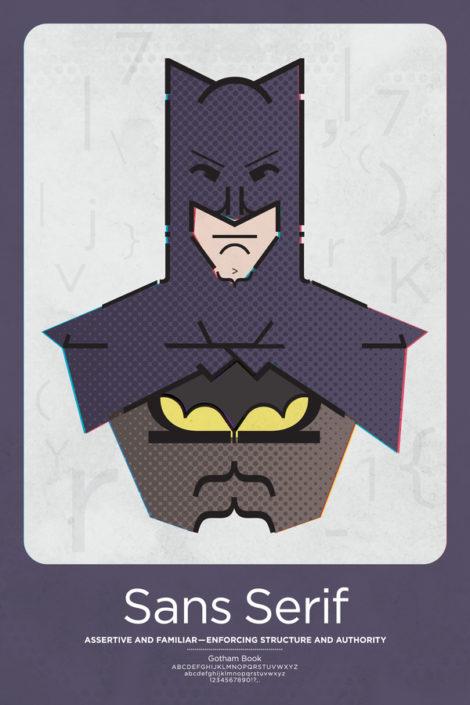 Sans Serif Batman