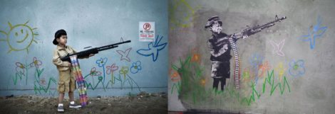 Banksy Child Soldier