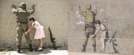 Banksy Girl and a Soldier