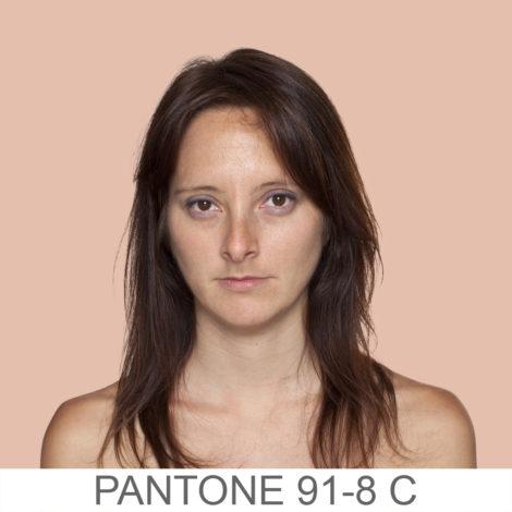 Die Pantonefarben der menschlichen Haut
