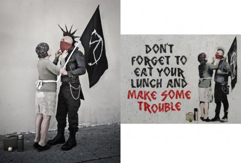 Banksy Mother and Son