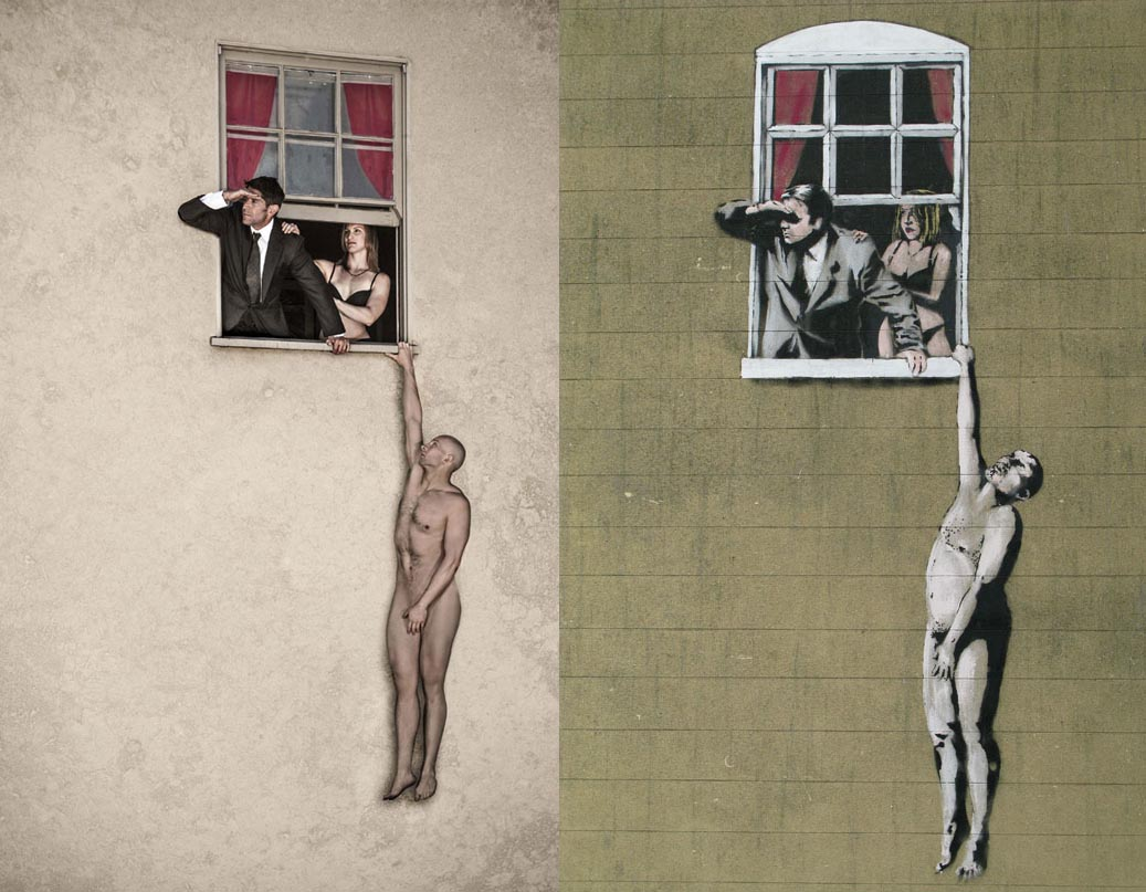 Banksy Naked Man