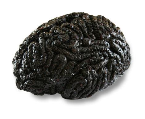 Gehirn aus schwarzem Reis