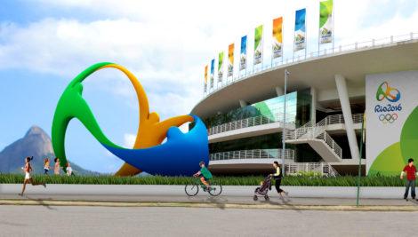 Das Logo als Skulptur in einer Animation