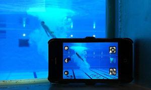Das iPhone-Setup von Dan Chung währen Olympia 2012