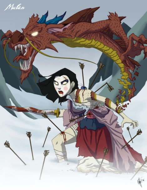 Twisted Disney Princesses - Mulan
