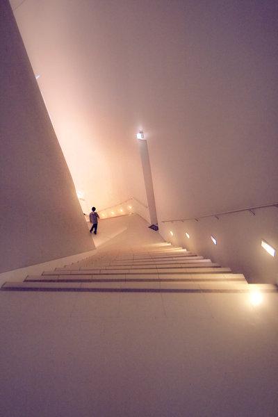 Atmospährisch wirkender Treppenabstieg