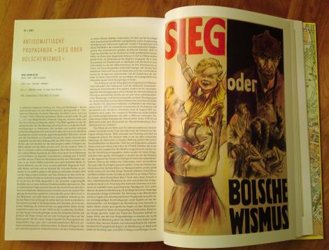 """Durchhalteparole in Plakatform """"Sieg oder Bolschewismus"""" von 1943"""
