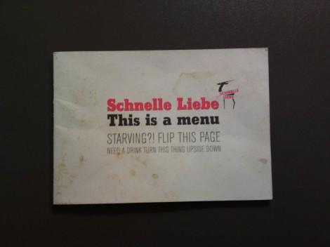 Schnelle Liebe München Speisekarte