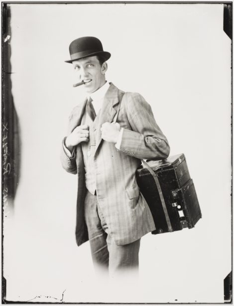 Jack Turner press photographer, c. 1914, by Sam Hood
