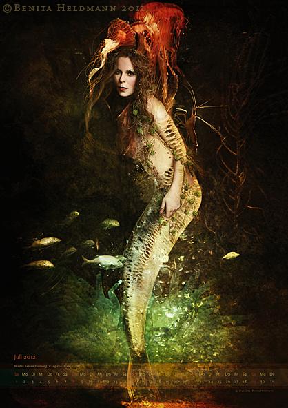 Kleine Meerjungfrau, Modell: Sabine Hornung