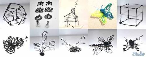 Beispiele, was man alles mit dem 3Doodler erstellen kann