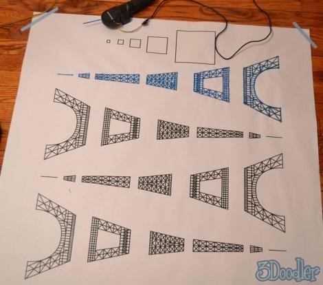 3Doodler – Schablone des Eiffelturmes