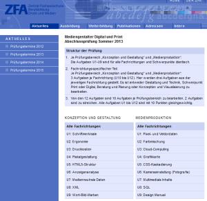 Themen für die Abschlussprüfung der Mediengestalter 2013