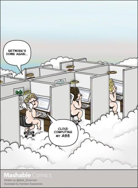 Cloud-Computing ist auf eine (Netzwerk-)Verbindung zur Cloud angewiesen